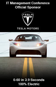 Official Sponsor of the IT Management Conference: Tesla Motors